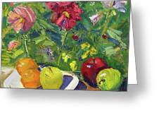 Garden Fruit And Flowers Greeting Card