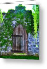 Garden Gate At The Highlands Greeting Card