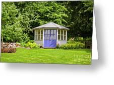 Garden Gazebo House Greeting Card