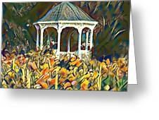 Garden Gazebo Watercolor Greeting Card