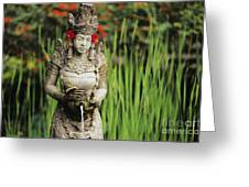Garden In Bali Greeting Card