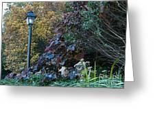 Garden Lamp Post Greeting Card