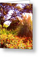 Garden Landscape Greeting Card