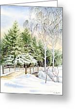 Garden Landscape Winter Greeting Card