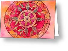 Garden Mandala Greeting Card