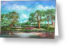 Summer In The Garden Of Eden Greeting Card