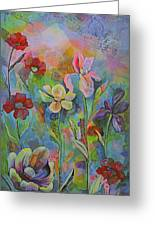 Garden Of Intention - Triptych Center Panel Greeting Card