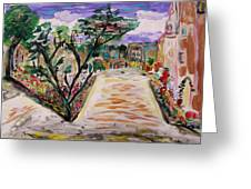 Garden Of The City Greeting Card