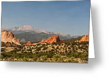 Garden Of The Gods Greeting Card