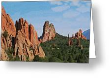 Garden Of The Gods Colorado De  Greeting Card