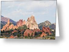 Garden Of The Gods From A Distance Greeting Card