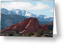 Garden Of The Gods Iv Greeting Card