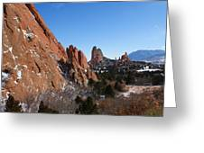 Garden Of The Gods Winter Greeting Card