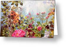 Garden Party/left Portion Greeting Card
