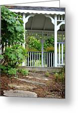 Garden Path And Gazebo Greeting Card