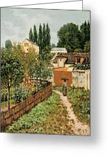 Garden Path In Louveciennes Greeting Card