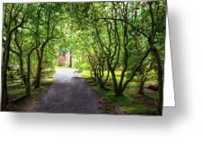 Garden Path In Spring Greeting Card