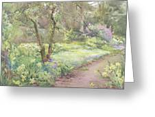 Garden Path Greeting Card by Mildred Anne Butler
