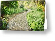 Garden Path - Photography Greeting Card