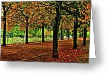 Garden Path, Schloss Biebrich Greeting Card