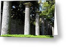 Garden Pillars Greeting Card