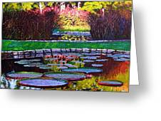Garden Ponds - Tower Grove Park Greeting Card