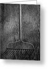 Garden Rake Down Greeting Card
