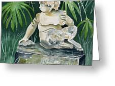 Garden Satyr Greeting Card
