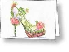 Garden Shoe Greeting Card