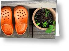 Garden Shoes Greeting Card