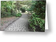 Garden Sidewalk Greeting Card