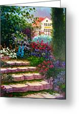 Garden Steps Greeting Card