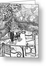 Garden Table Greeting Card