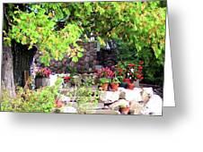 Garden Terrace Greeting Card