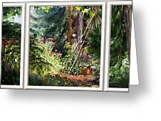 Garden View Window Greeting Card