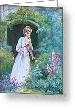 Garden Walk - B Greeting Card