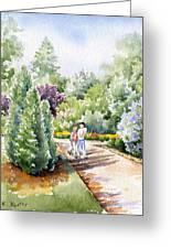 Garden Walk Greeting Card