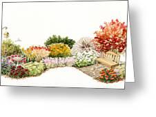 Garden Wild Flowers Watercolor Greeting Card