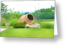 Garden With Amphora. Greeting Card