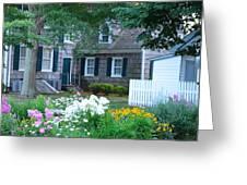 Gardens At The Burton-ingram House - Lewes Delaware Greeting Card