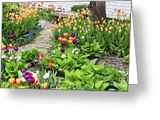 Gardens Of Tulips Greeting Card