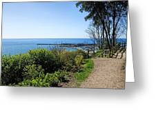 Gardens Overview - Lyme Regis Greeting Card