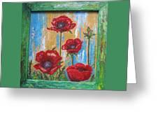 Gardens Poppy Greeting Card