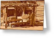 Gardiner Cabin - Circa 1800's Greeting Card