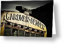 Gardner Denver Greeting Card by Merrick Imagery