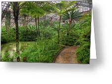 Garfield Park Conservatory Pond And Path Chicago Greeting Card