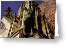 Gargoyle At The Dom Church In Utrecht In The Evening 188 Greeting Card