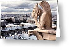 Gargoyle Of Notre Dame Greeting Card