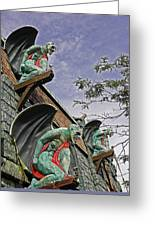 Gargoyles Galore Greeting Card