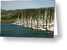 Garibaldi Oregon Marina Greeting Card